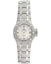 Concord Saratoga Stainless Steel & Diamond Watch, 25mm - Metallic