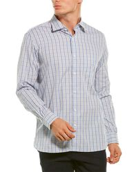 Hickey Freeman Tailored Fit Woven Shirt - Blue