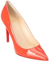 293022949da Lyst - Christian Louboutin Pigalle Follies 100 Patent Pump in Pink