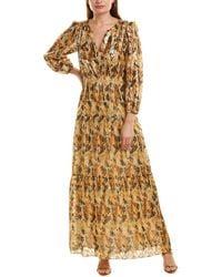 Ba&sh Gullian Silk-blend Maxi Dress - Yellow