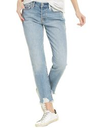 7 For All Mankind 7 For All Mankind Josefina Patched Sloane Boyfriend Jean - Blue