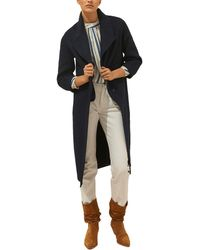 Ba&sh Ball Wool-blend Coat - Blue