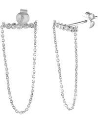 Gabi Rielle - Silver Cz Earrings - Lyst