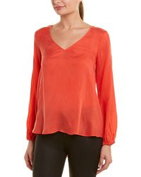 Lavender Brown Flutter Top - Orange