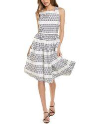 Brooks Brothers Eyelet A-line Dress - White