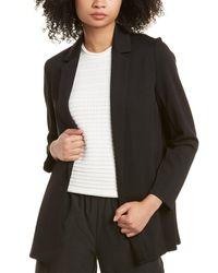 Eileen Fisher Notch Collar Jacket - Black