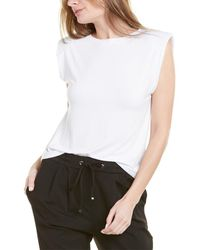 Laundry by Shelli Segal Shoulder Pad Top - White