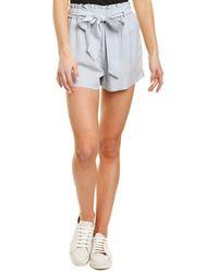 Bella Dahl Ruffle High-waist Short - Grey