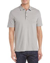 Canali Slim Fit Stretch Polo Shirt - Grey