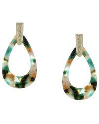 Sparkling Sage - 14k Plated Drop Earrings - Lyst