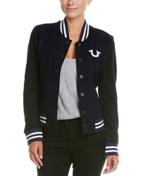 True Religion - Souvenir Varsity Wool-blend Jacket - Lyst
