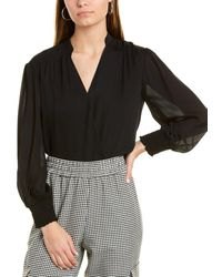 Alice + Olivia Celia Silk Blouse - Black