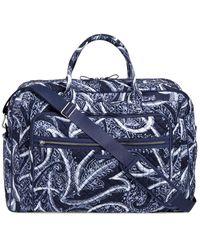 Vera Bradley Iconic Grand Weekender Travel Bag - Blue
