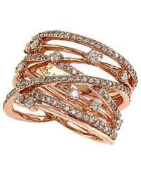 Effy - Fine Jewelry 14k Rose Gold 1.21 Ct. Tw. Diamond Ring - Lyst
