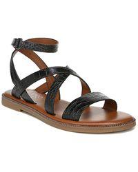 Franco Sarto Kemmer Leather Sandal - Black