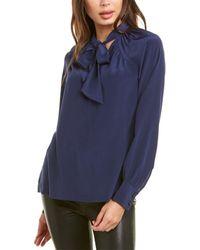 Trina Turk Cabernet Silk Top - Blue