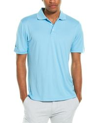 Brooks Brothers Performance Series Oxford Polo Shirt - Blue