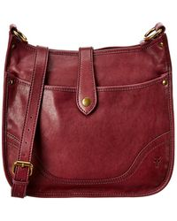 Frye Madison Ns Leather Crossbody - Red