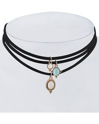Gottex - 18k Plated Set Of 3 Layered Choker Necklaces - Lyst