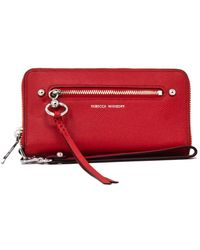 Rebecca Minkoff Gabby Leather Phone Wallet - Red