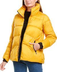 Sam Edelman Short Puffer Coat - Yellow