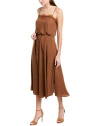 Vince Lace Trimmed Cami Dress - Brown