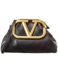 Valentino Garavani Supervee Leather Clutch - Black