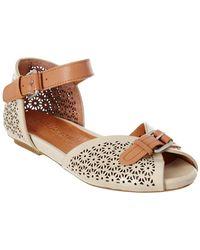 Gentle Souls Bessie Laser-cut Sandals - Brown
