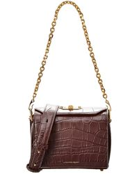 Alexander McQueen - Box Bag 19 Croc-embossed Leather Shoulder Bag - Lyst