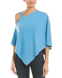 Susana Monaco Off-the-shoulder Cape Top - Blue