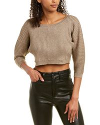 BCBGMAXAZRIA Cropped Pullover - Metallic