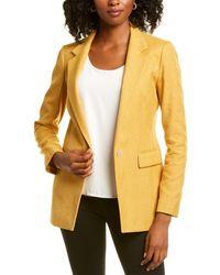 Lafayette 148 New York Rhoda Wool-blend Blazer - Yellow