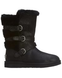 49560abdc8c UGG Becket Triple-Buckled Boots in Brown - Lyst