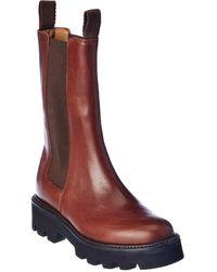 Grenson Doris Leather Chelsea Boot - Red