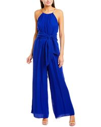 Trina Turk Jungle Silk Jumpsuit - Blue