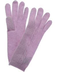 Portolano Lavender Cashmere Gloves - Purple