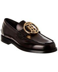 Burberry Monogram Leather Loafer - Black