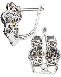 Suzy Levian Silver 1.32 Ct. Tw. Sapphire Earrings - Metallic