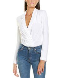 RTA Blazer Bodysuit - White