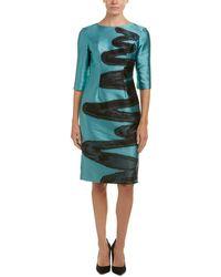 Carolina Herrera - Silk-lined Sheath Dress - Lyst