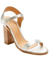 06b6d74c8bb Lyst - Charlotte Russe Clear Two-piece Engraved Heel Sandals in Metallic