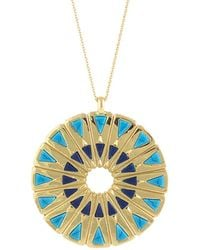 House of Harlow 1960 - 1960 14k Plated Resin Necklace - Lyst