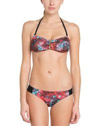 Hurley - Aussie Red Print Bikini Bottom - Lyst
