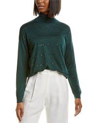 Brunello Cucinelli Cashmere & Silk-blend Turtleneck - Green