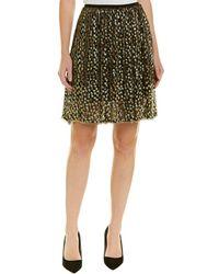 Elie Tahari Silk-blend A-line Skirt - Yellow