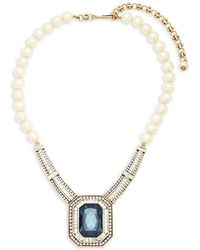 Heidi Daus Faux Pearls And Crystals Statement Necklace - White