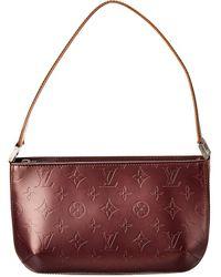 Louis Vuitton Purple Monogram Mat Vernis Leather Fowler