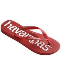 Havaianas Top Logomania Flip Flop - Red