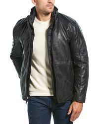 Marc New York Hartz Leather Jacket - Black