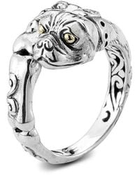 Samuel B. 18k Over Silver Dog Ring - Metallic